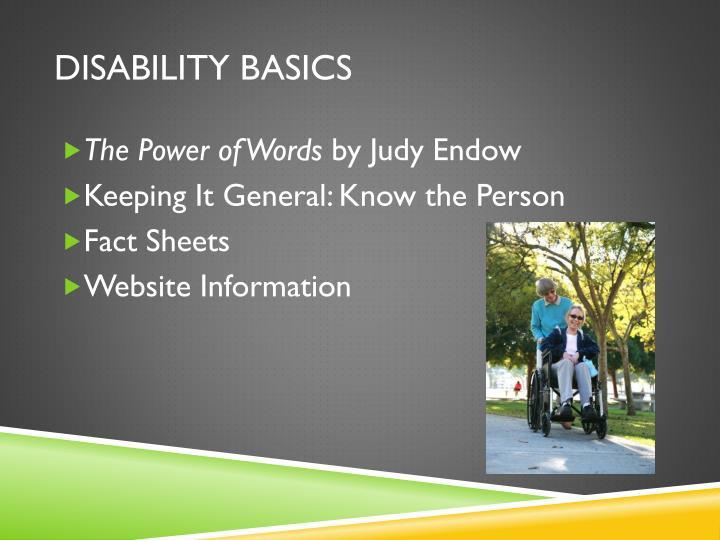 Disability Basics
