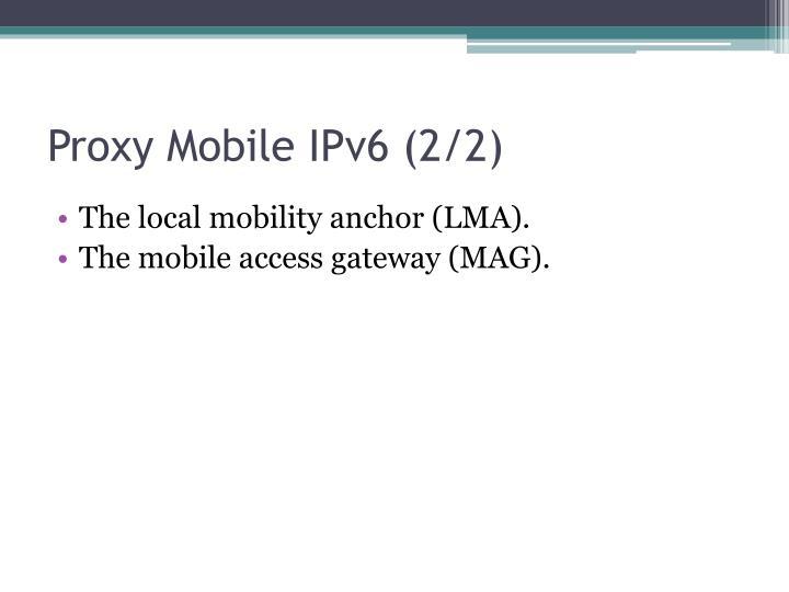 Proxy Mobile IPv6
