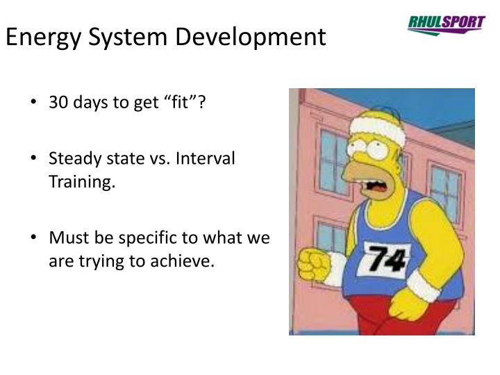 Energy System Development