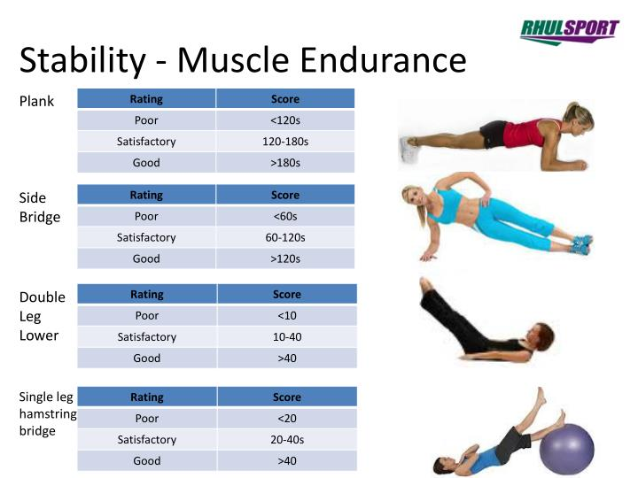 Stability - Muscle Endurance