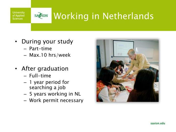 Working in Netherlands