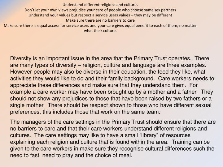 concepts of equality diversity and rights p1- explain the concepts of equality, diversity, and rights in relation to health and social care diversity diversity is very important in today's society and.