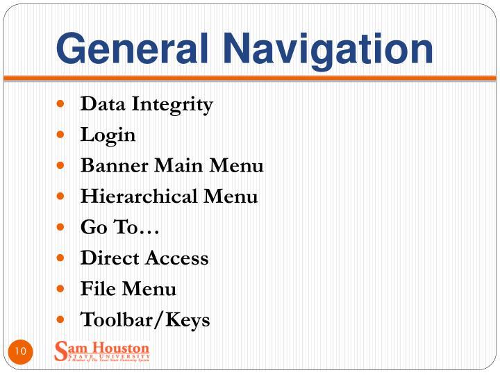 General Navigation