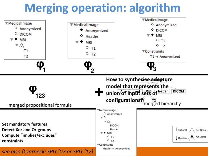 Merging operation: algorithm