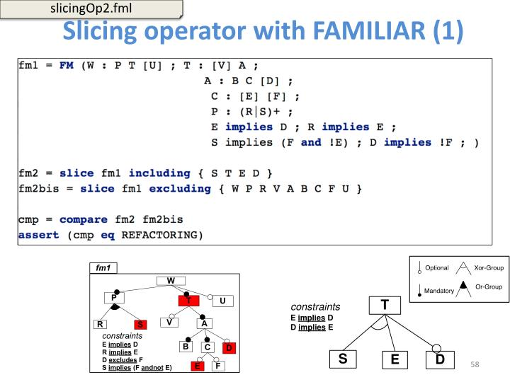 Slicing operator with FAMILIAR (1)