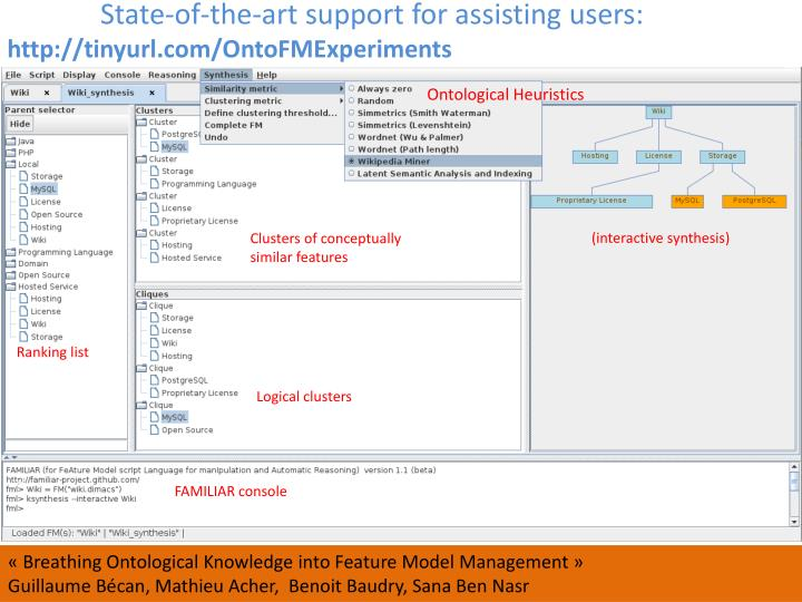 State-of-the-art support