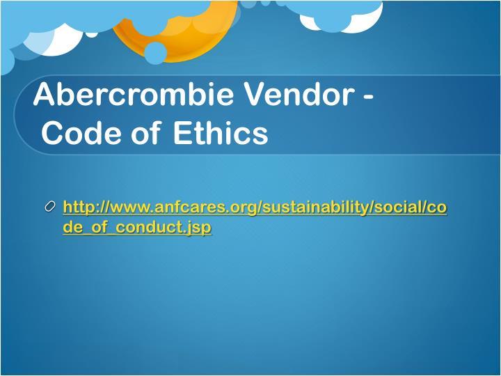 Abercrombie Vendor -