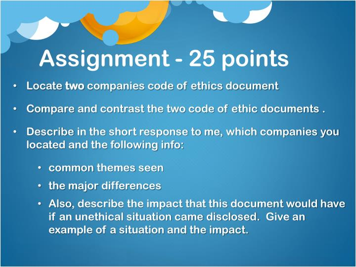Assignment - 25 points