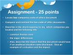 assignment 25 points