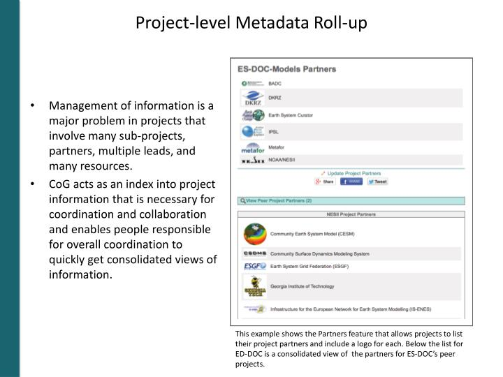 Project-level Metadata Roll-up