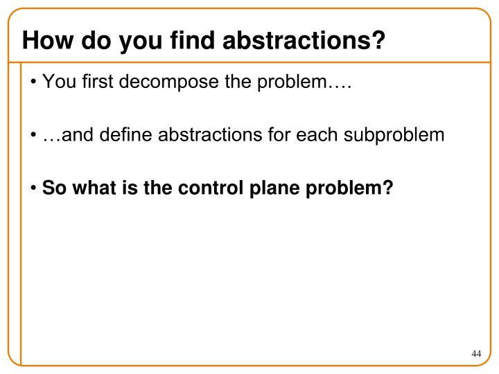 How do you find abstractions?