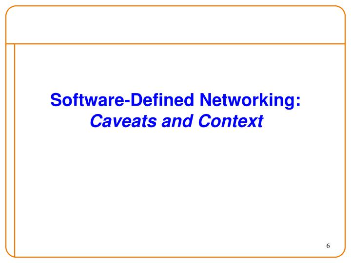 Software-Defined Networking: