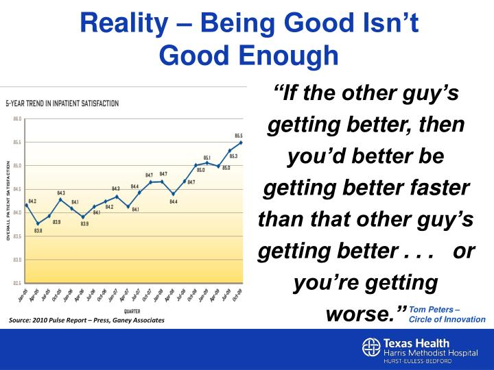 Reality – Being Good Isn't Good Enough