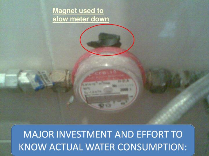 Magnet used to slow meter down
