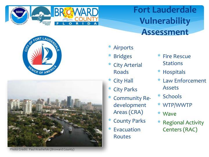 Fort Lauderdale Vulnerability Assessment