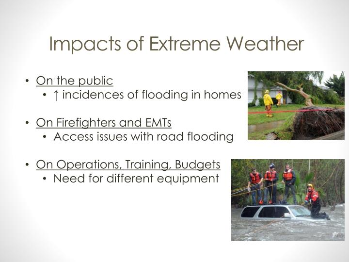 Impacts of Extreme Weather