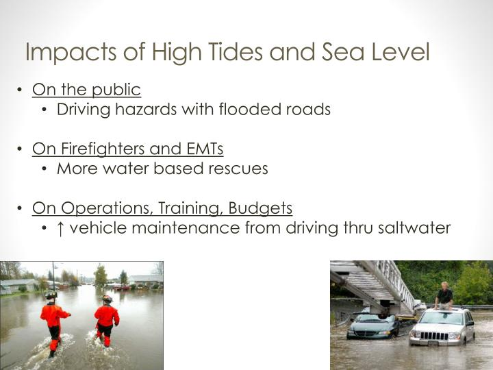 Impacts of High Tides and Sea Level