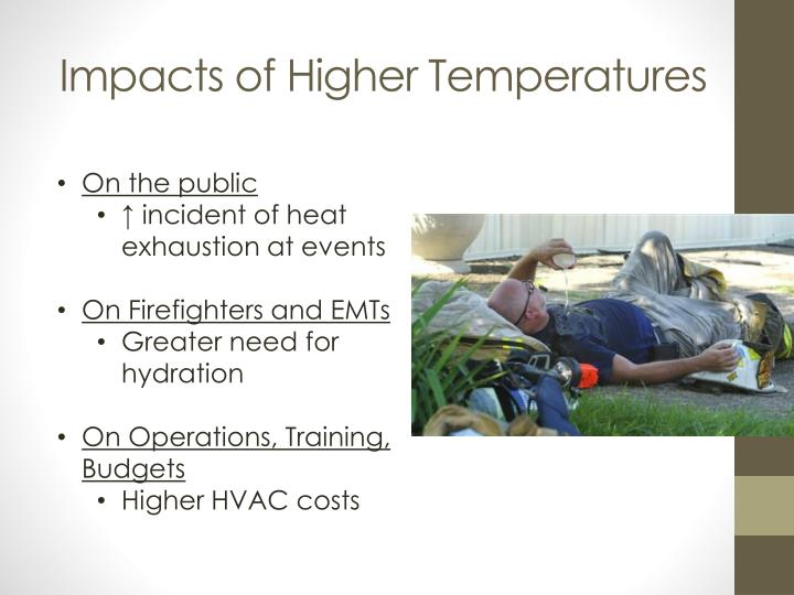 Impacts of Higher Temperatures