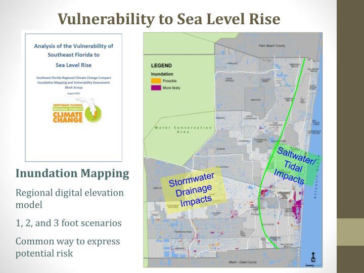 Vulnerability to Sea Level Rise