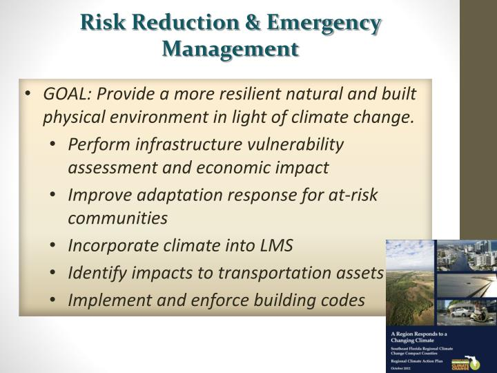 Risk Reduction & Emergency Management