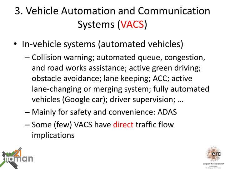 3. Vehicle Automation and Communication