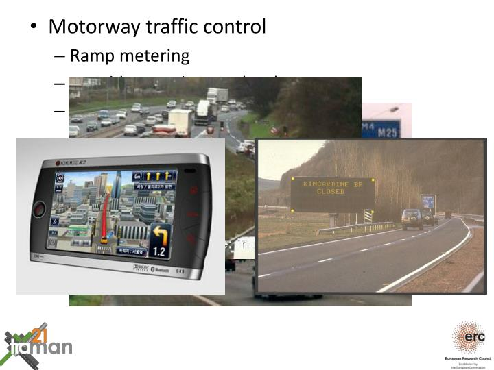 Motorway traffic control