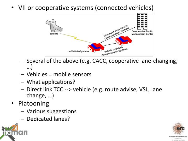VII or cooperative systems (connected vehicles)