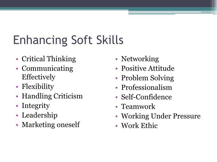 Enhancing Soft Skills