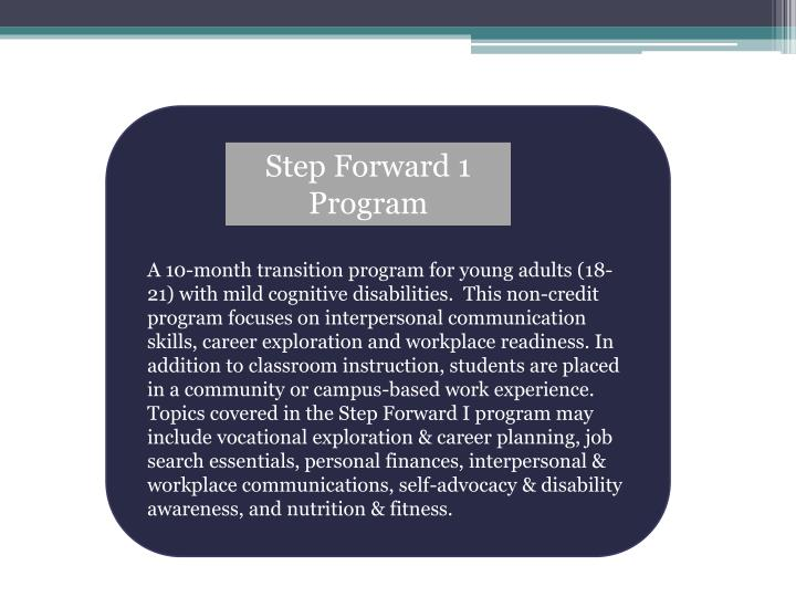Step Forward 1 Program