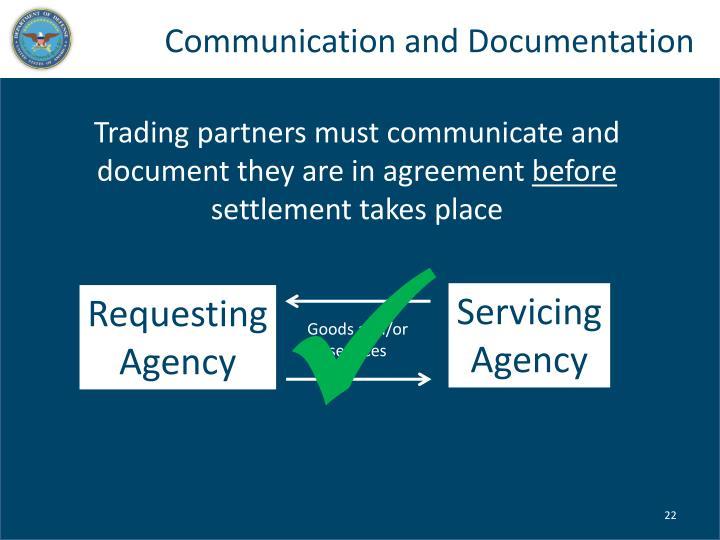 Communication and Documentation