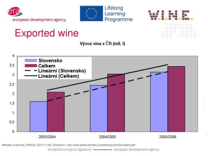 Exported wine
