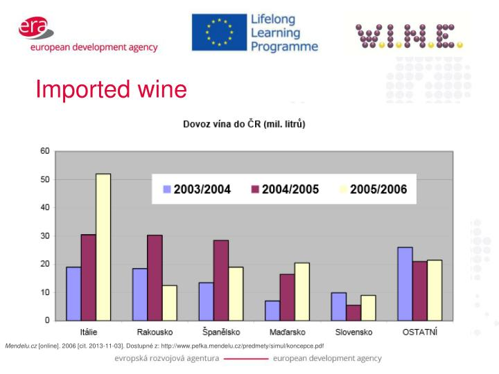 Imported wine