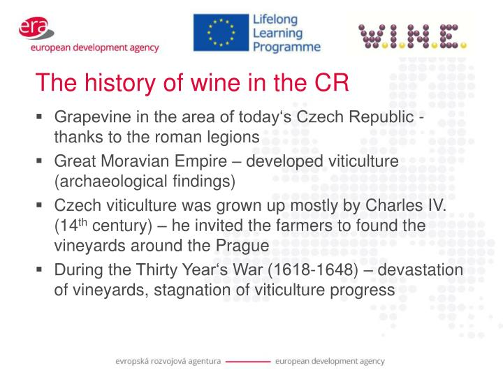 The history of wine in the CR