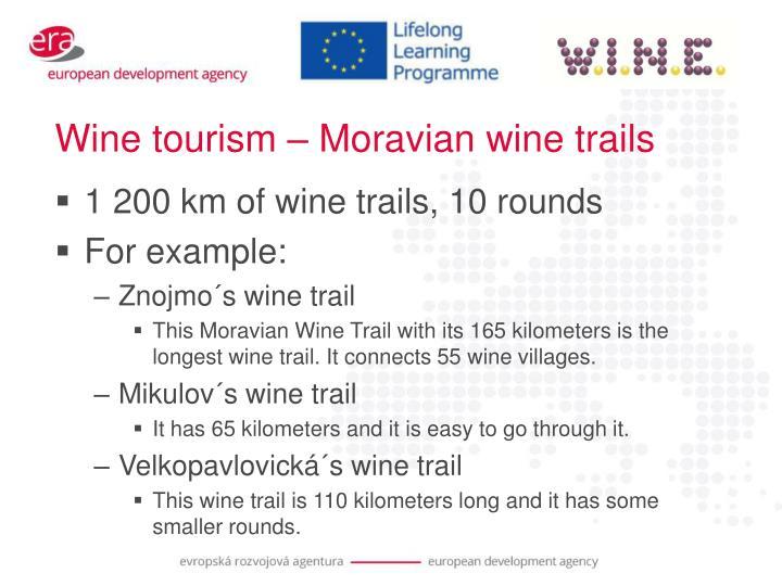 Wine tourism – Moravian wine trails