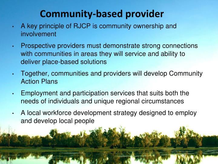 Community-based provider