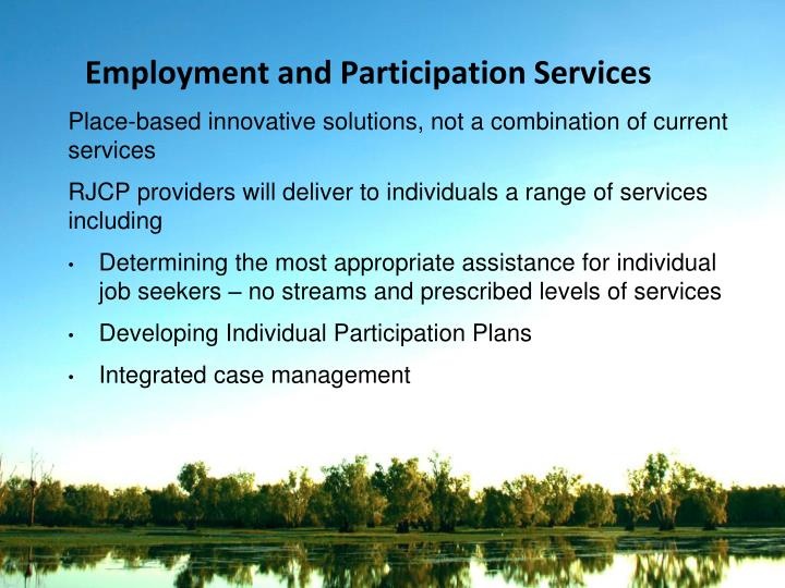 Employment and Participation Services