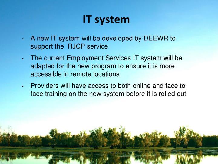IT system
