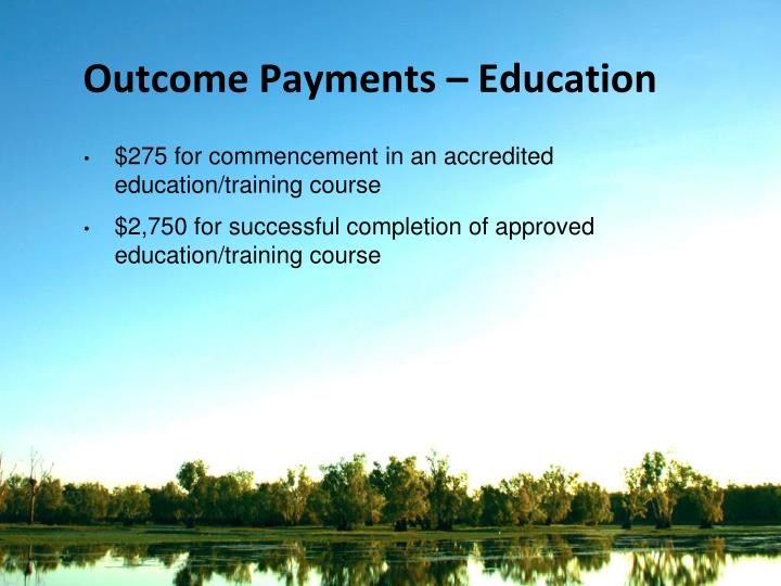 Outcome Payments – Education