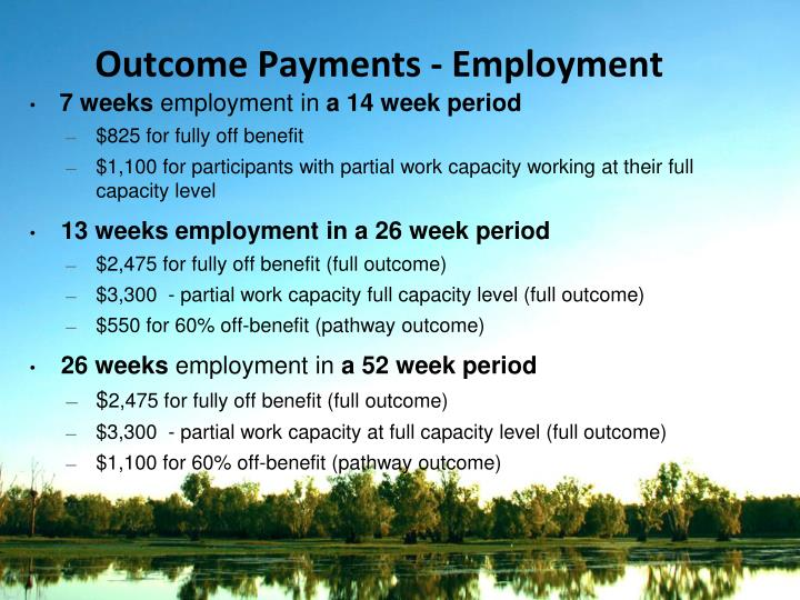 Outcome Payments - Employment