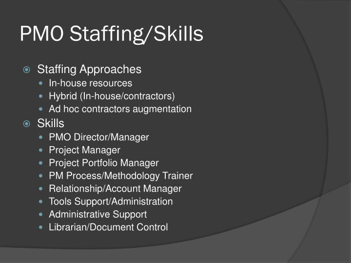PMO Staffing/Skills