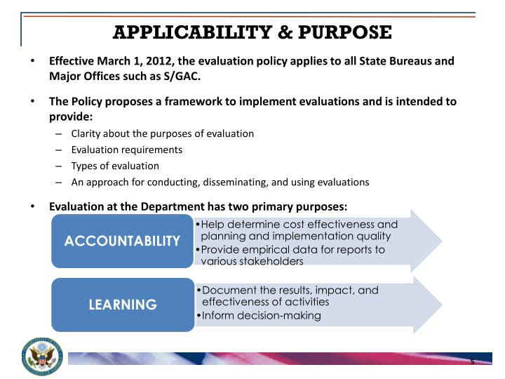 APPLICABILITY & PURPOSE