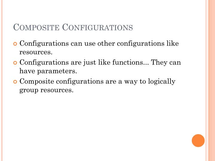 Composite Configurations