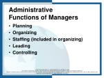 administrative functions of managers