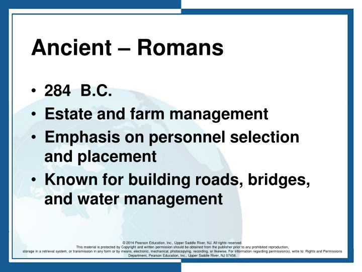 Ancient – Romans