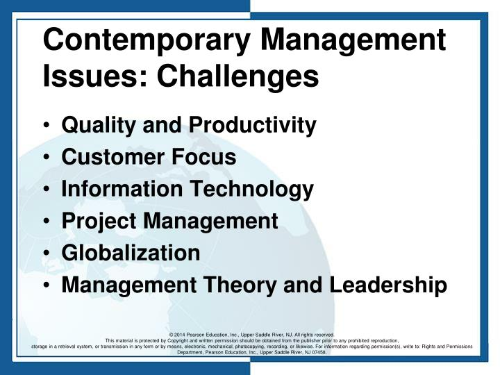 Contemporary Management Issues: Challenges