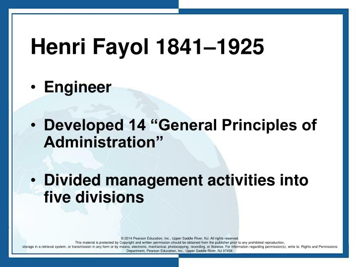 Henri Fayol 1841–1925