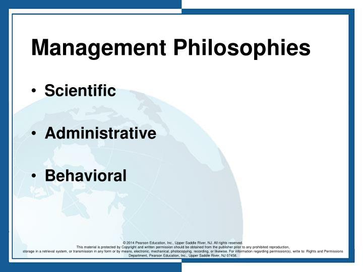 Management Philosophies