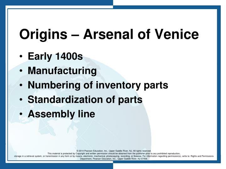 Origins – Arsenal of Venice