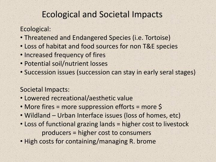 Ecological and Societal Impacts