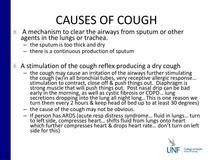 CAUSES OF COUGH